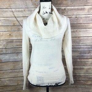 Halogen 100% Cashmere cowl neck sweater